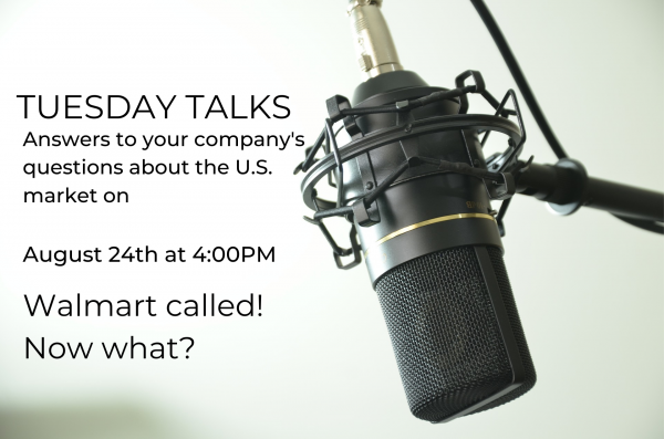 Tuesday Talks – Walmart called! Now what?