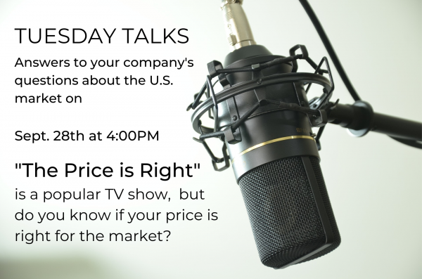 Tuesday Talks – Is the Price is Right?